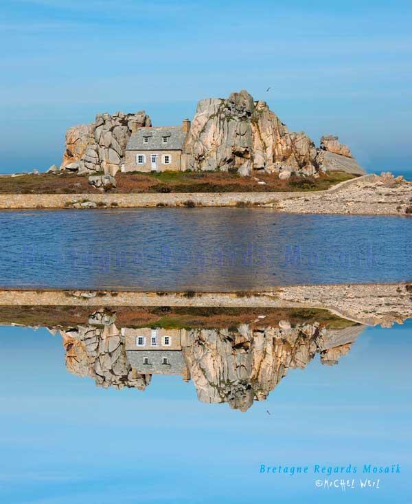 La petite maison entre les rochers