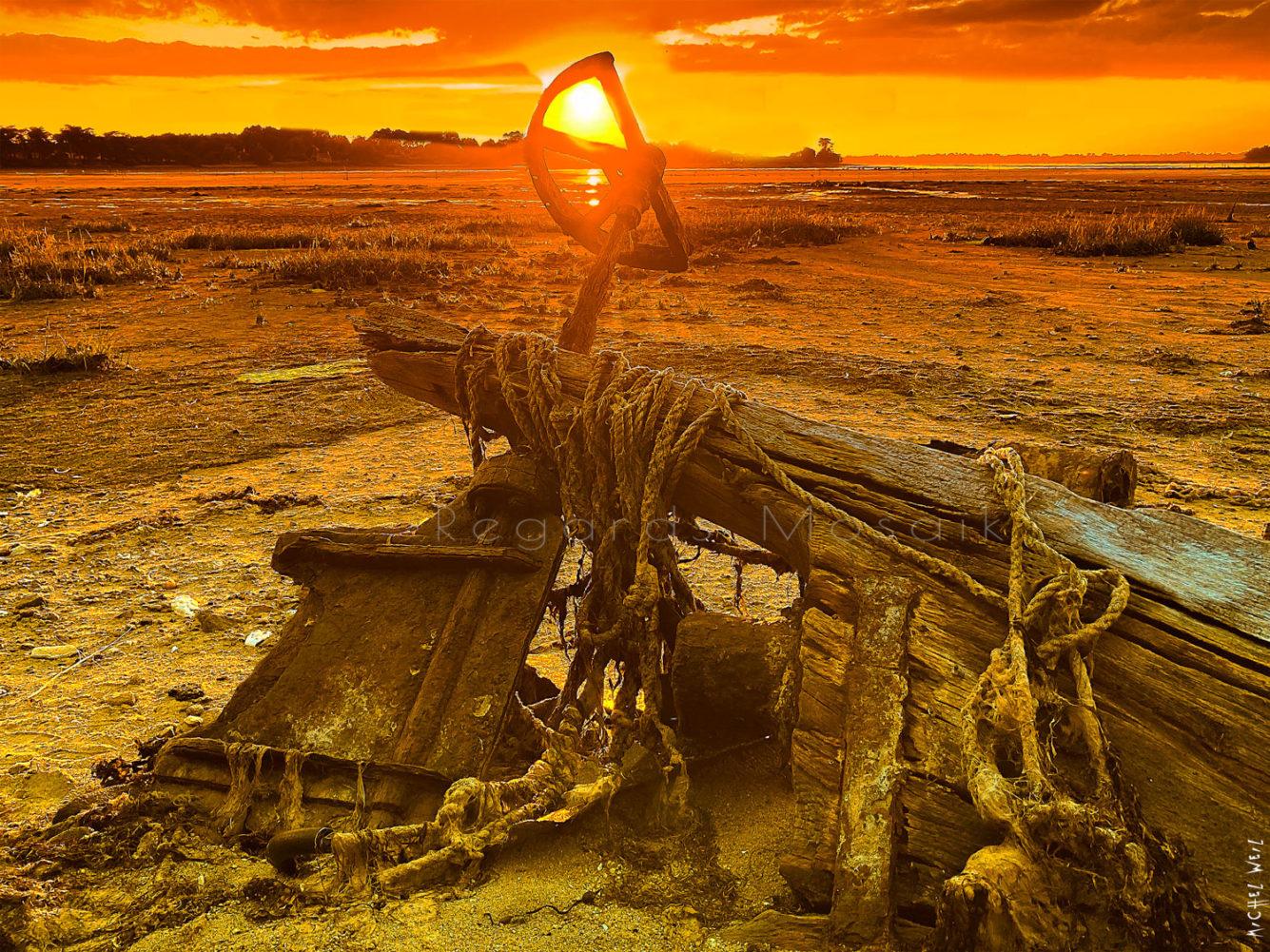 Wreck at Sunset