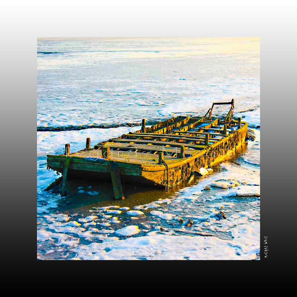 La barge en hiver