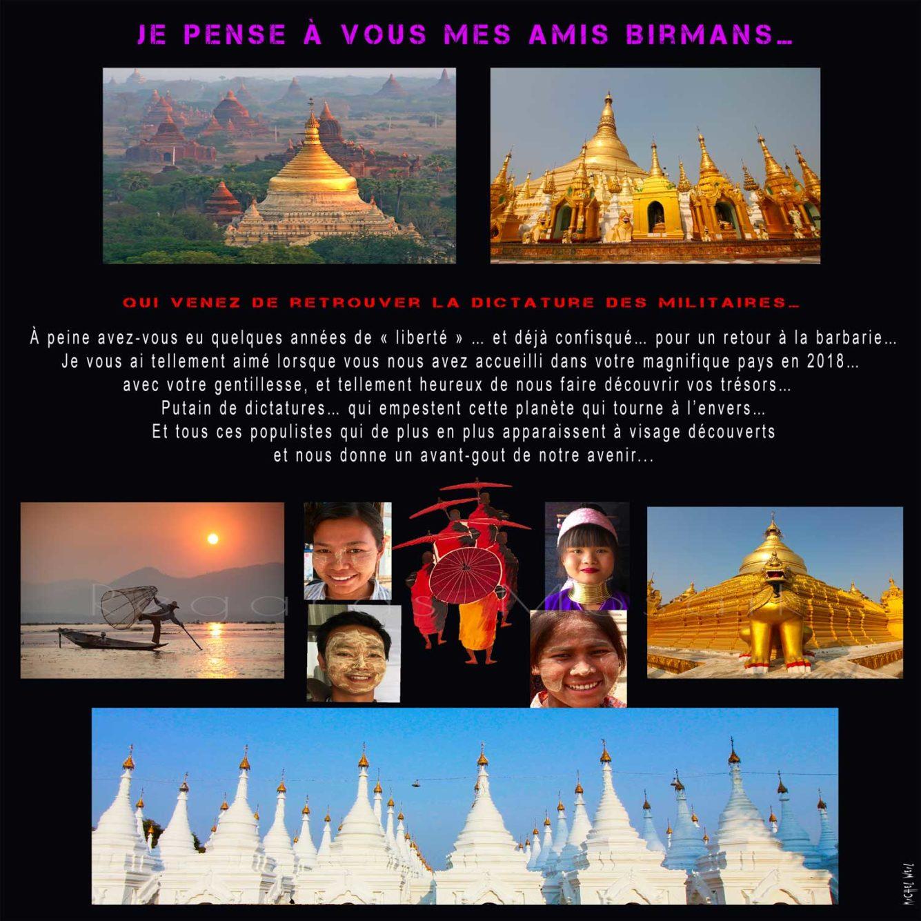 Je pense à vous mes amis Birmans