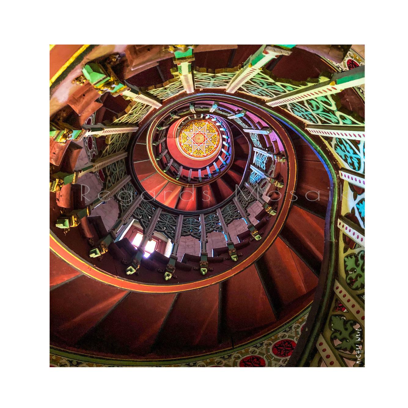 Escalier au château d'Abbadia